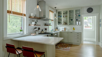 Open Shelves in a White Kitchen