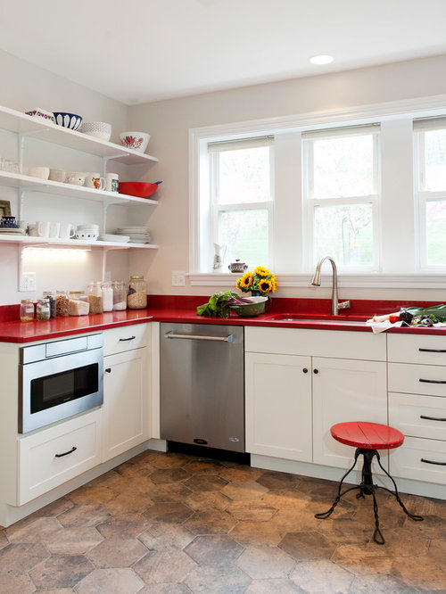 red countertop | houzz