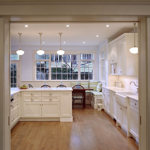 Elegant Eat In Kitchen Photo In DC Metro With Recessed Panel Cabinets, A