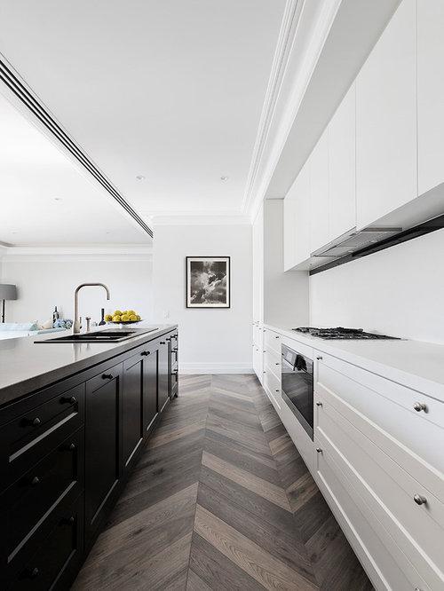 skandinavische k chen mit schrankfronten im shaker stil ideen bilder. Black Bedroom Furniture Sets. Home Design Ideas