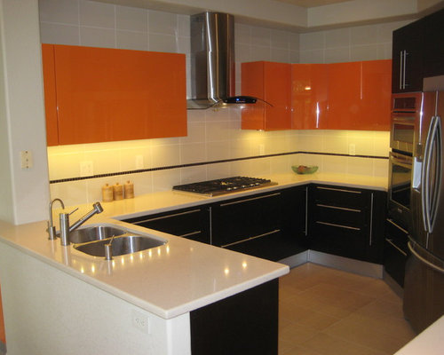 778 small kitchen design photos with stainless steel appliances and