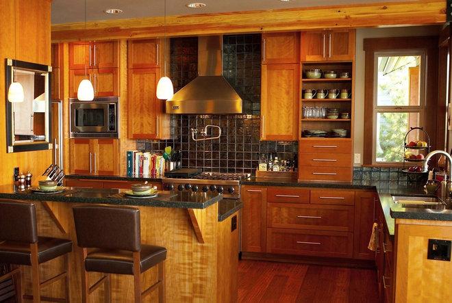 Rustic Kitchen by Dan Nelson, Designs Northwest Architects