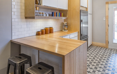Kitchen of the Week: Ikea-Hack Cabinets and Fun Floor Tile