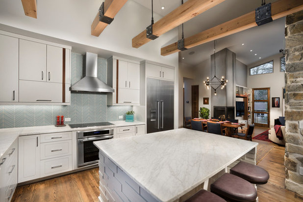 Contemporary Kitchen by Living Stone Design + Build