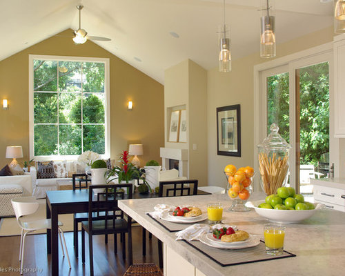 Beach Style Open Concept Kitchen Idea In San Franciscoopen Kitchen Dining And Family Room Houzz