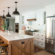 A Wall Comes Down in This Wood-and-White Kitchen