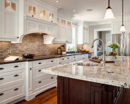Delicatus granite houzz for Cabico kitchen cabinets