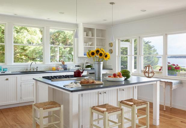 Coastal Kitchen by Oak Hill Architects