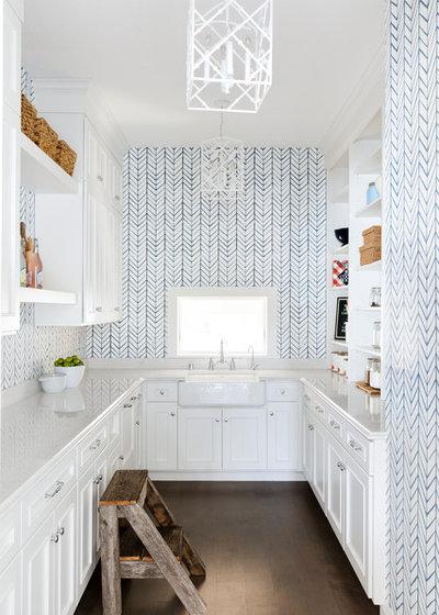 Coastal Kitchen by Divine Custom Homes
