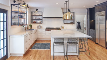 Orono MN Kitchen remodel with black and white cabinetry