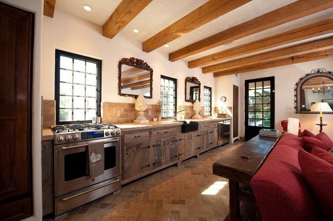 Rustic Kitchen by Island Architects