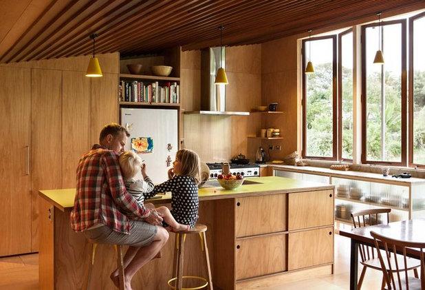 コンテンポラリー キッチン by Bull O'Sullivan Architecture Limited