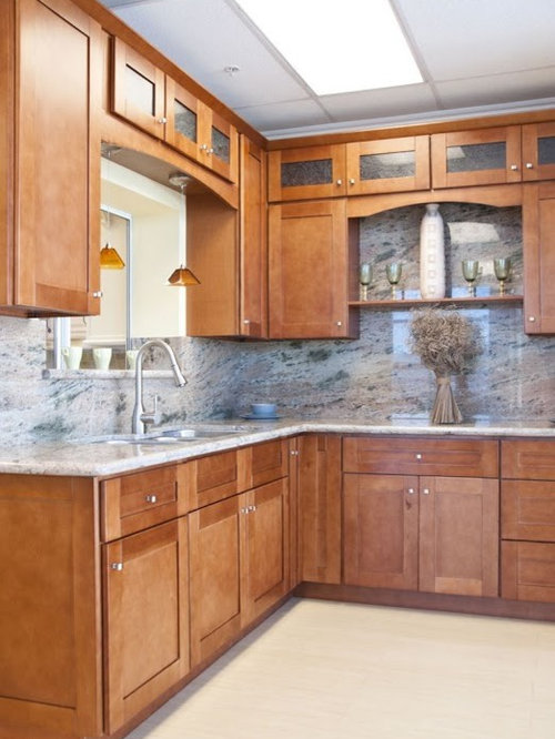 ... Pictures with Medium Tone Wood Cabinets and an Undermount Sink | Houzz