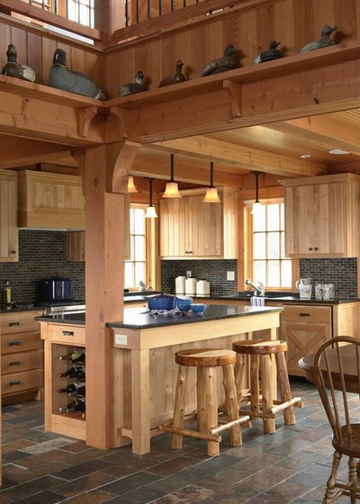 Rustic Kitchen by David Heide Design Studio