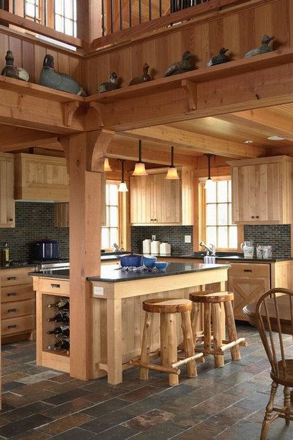 Rustic Kitchen by David Heide Design Studio