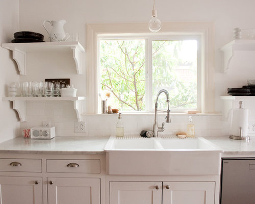 Inspiration For A Timeless Kitchen Remodel In Dallas With Subway Tile  Backsplash, A Drop