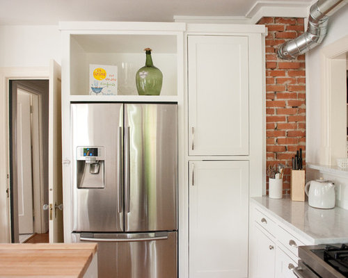 ... Recessed Wall Niche Decorating Ideas By Above Refrigerator Houzz ...