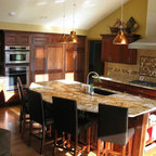 Golden Oak Transformation Traditional Kitchen Omaha