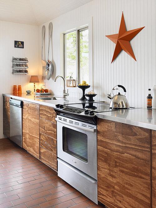 39 Big Kitchen Interior Design Ideas For A Unique Kitchen: Plywood Countertop