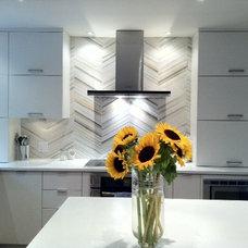 Modern Kitchen Our kitchen backsplash