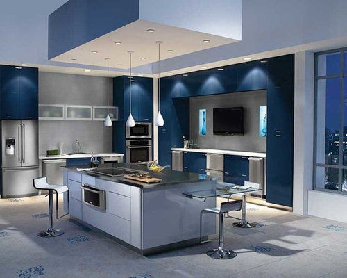 laminate flooring in the kitchen best 70 modern blue kitchen ideas houzz 8868