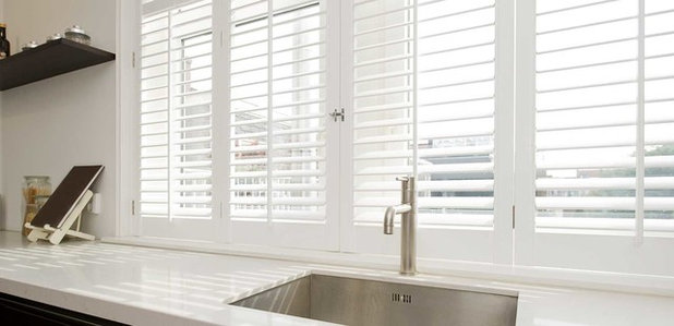 Contemporary Kitchen by Premier Blinds and Shades