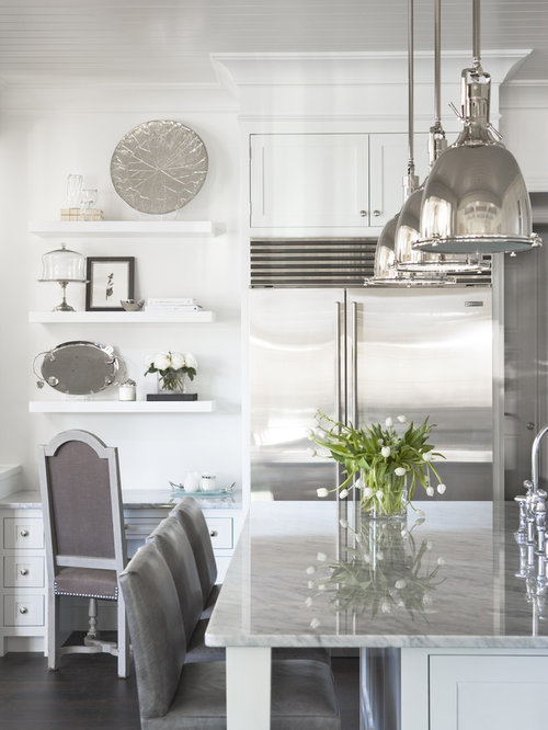 Benson pendant houzz inspiration for a timeless kitchen remodel in other with shaker cabinets white cabinets and stainless aloadofball Images