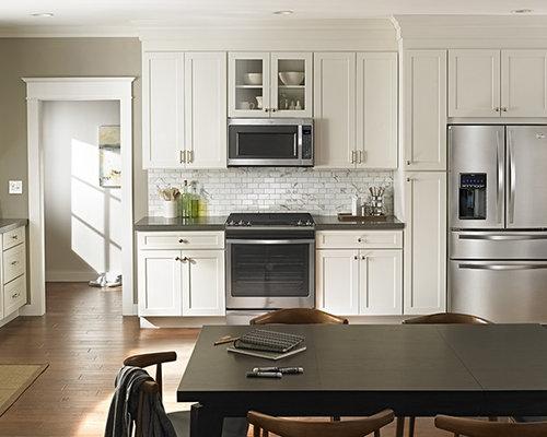 Kitchen design ideas renovations amp photos with grey splashback and
