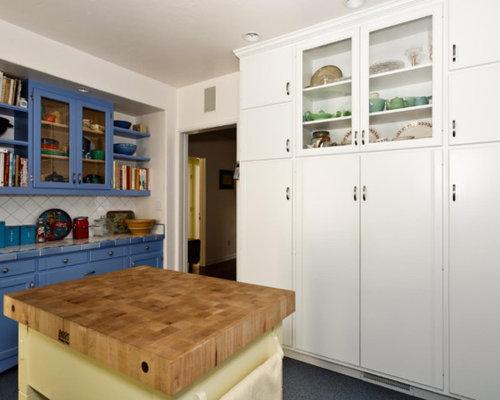 eklektische k che mit terrazzo boden ideen bilder. Black Bedroom Furniture Sets. Home Design Ideas