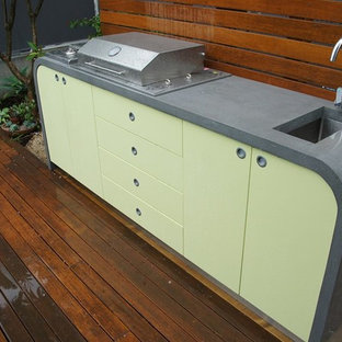 Outdoor Kitchen | Polished Concrete benchtops