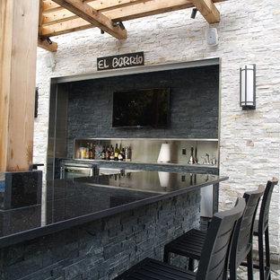 Outdoor Kitchens with Stone Veneer
