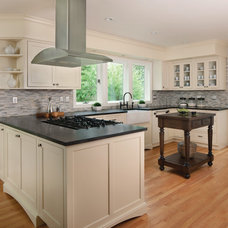 Transitional Kitchen by Margeaux Interiors - Margaret Skinner