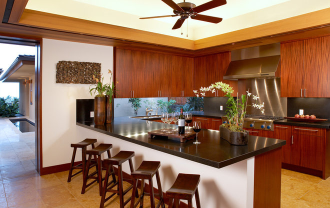 tropical kitchen by Ownby Design