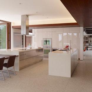 Eat In Kitchen Large Modern U Shaped Idea