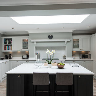 Design Ideas For A Large Traditional U Shaped Kitchen In London With Shaker  Cabinets,