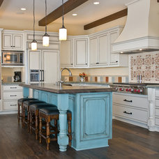 Beach Style Kitchen by DuChateau Floors