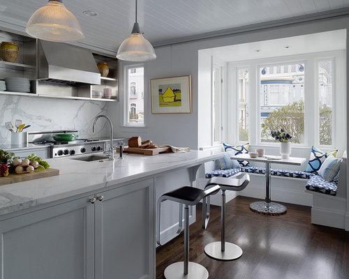 White Kitchen Marble Backsplash white marble backsplash | houzz