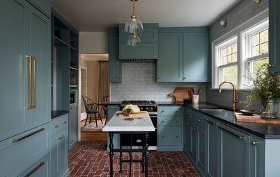 Rustic and Refined Blend in a Jewel Box Kitchen