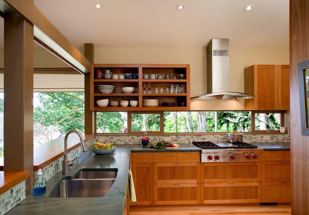 Midcentury Kitchen by Crescent Builds