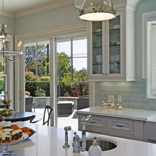 Beach Style Kitchen by Jill Wolff Interior Design