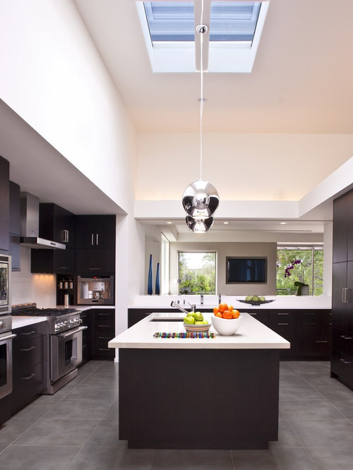 images of contemporary kitchens grey flooring houzz 4624