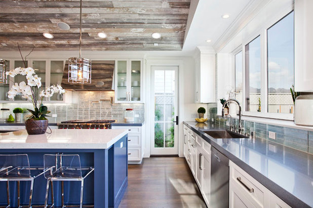 Transitional Kitchen by White Picket Fence, Inc