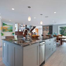 Transitional Kitchen by Sarah Gallop Design Inc.