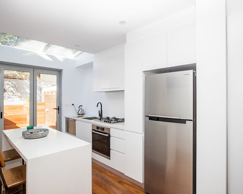 Inspiration For A Small Single Wall Open Plan Kitchen In Central Coast With  An Integrated