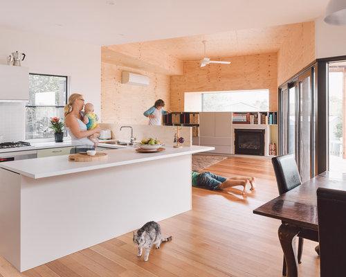 wohnk chen in u form mit arbeitsplatte aus terrazzo ideen. Black Bedroom Furniture Sets. Home Design Ideas