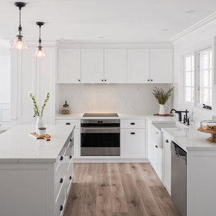 75 Beautiful Laminate Floor Kitchen, White Marble Laminate Flooring