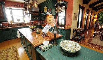 paint  floor and color in Mediterranean Kitchen