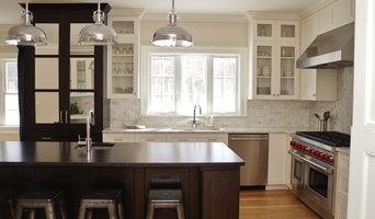 Painted & Dark Cherry Kitchen