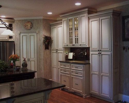 glazed kitchen cabinets. Elegant kitchen photo in Atlanta Glazed Kitchen Cabinets  Houzz
