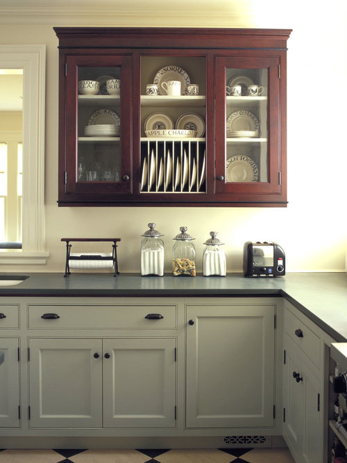 Elegant Kitchen Photo In Burlington With Beaded Inset Cabinets An Undermount Sink And Gray